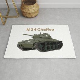 M24 Chaffee American WW2 Tank Rug