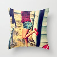 heels Throw Pillows featuring Laundry Heels by RAG3