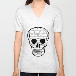 Music Skull Unisex V-Neck