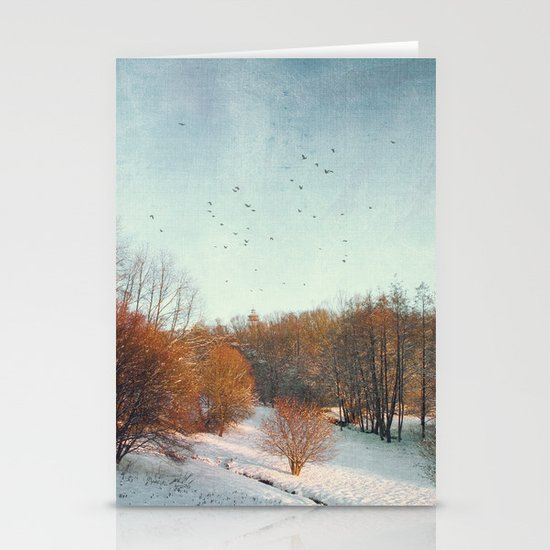 Trees in Winter II Stationery Cards