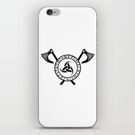 Norse Axe - Triple Horn of Odin iPhone Skin