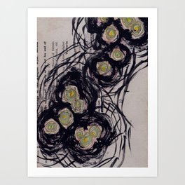 Candles in the Ganges Art Print