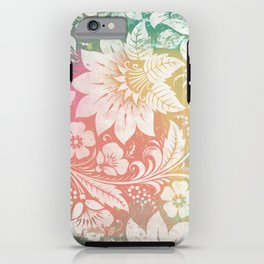 Abstract Pattern:  Watercolor Summery Brights 1 Shabbalicious Floral Orange iPhone Case