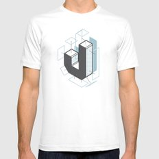 The Exploded Alphabet / J MEDIUM White Mens Fitted Tee