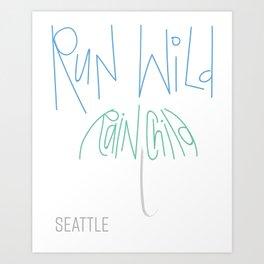 Run Wild Seattle Art Print