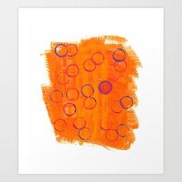Playful Tangerine Art Print
