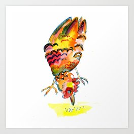 Pecking Hen Art Print