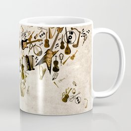 world map music Coffee Mug