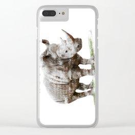 Rhinoceros MISSING Clear iPhone Case
