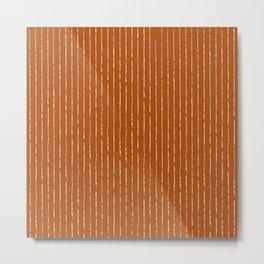 Lines II (Rust) Metal Print