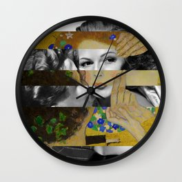 Klimt's The Kiss & Rita Hayworth with Glenn Ford Wall Clock