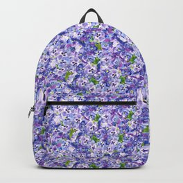 Blue velvety violets Backpack