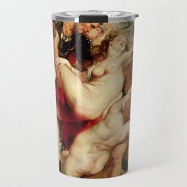 Peter Paul Rubens- The Rape of the Daughters of Leucippus Travel Mug