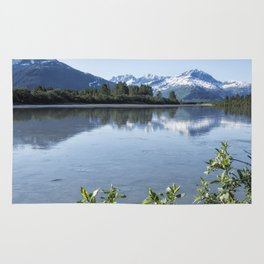Placer River at the Bend in Turnagain Arm, No. 1 Rug