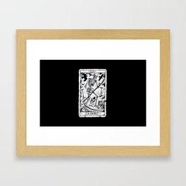 La Mort Card Framed Art Print