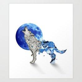 Diamond Wolf Art Print