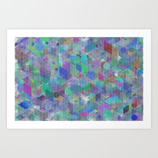 Panelscape + circles - #2 society6 custom generation Art Print