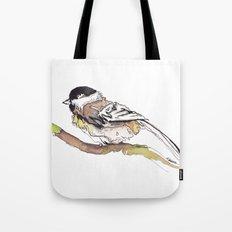 Black Capped Chickadee Tote Bag