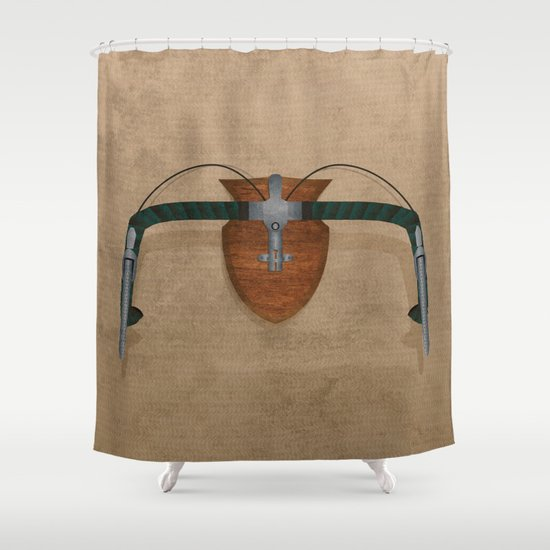 Bike Hunter Shower Curtain