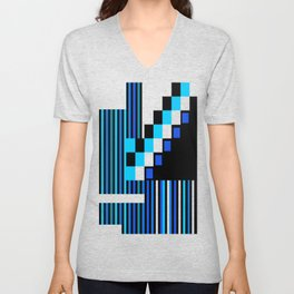 Playing with Colors | Shapes | Black and White | I Feel Blue Unisex V-Neck