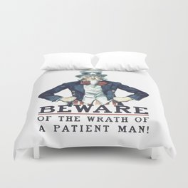 Beware Of The Wrath Of A Patient Man Uncle Sam Duvet Cover