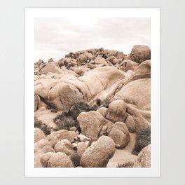 California Joshua Tree National Park Rock Formations Art Print