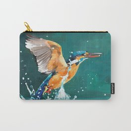 Oil painting kingfisher Carry-All Pouch
