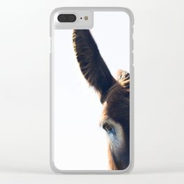Two Ears One Mouth Clear iPhone Case