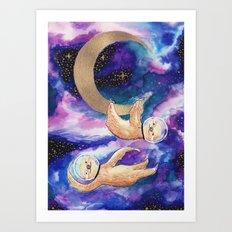 Sloths in Space Art Print