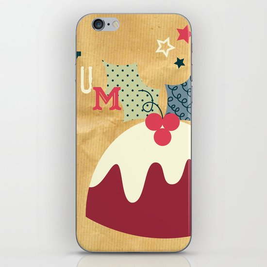 Yummy Christmas Pudding! iPhone & iPod Skin