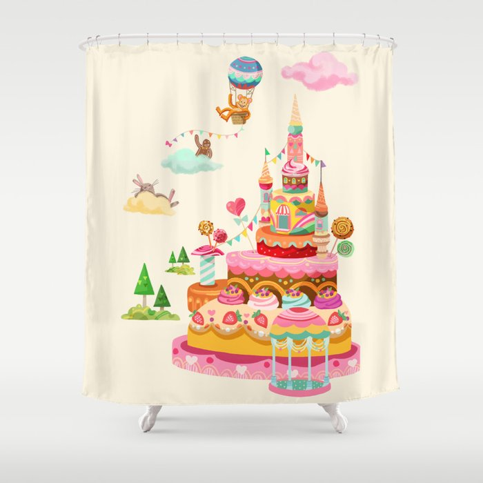 Ice Cream Castles In The Air Shower Curtain