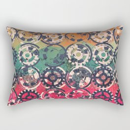 Grunge industrial pattern Rectangular Pillow