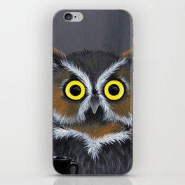 Caffeine Owl iPhone Skin