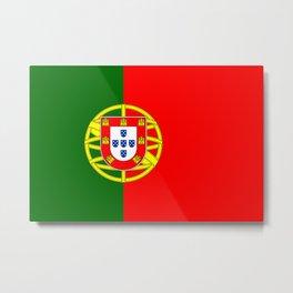 Portugal Flag Portuguese Patriotic Metal Print