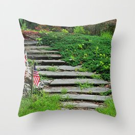 Footprint to Freedom Throw Pillow