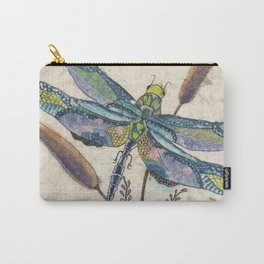 """""""""""Dragonflies and Cattails"""" Carry-All Pouch"""