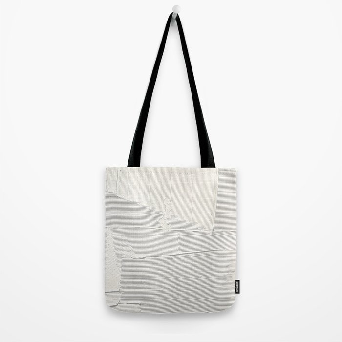 Relief [1]: an abstract, textured piece in white by Alyssa Hamilton Art Tote Bag
