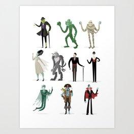 horror movies monsters Art Print