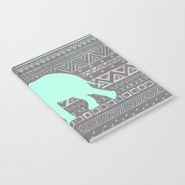 Mint Elephant  Notebook