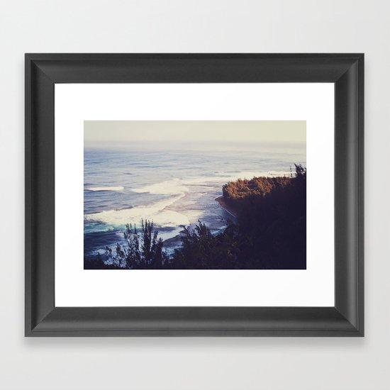 Morning Beach Framed Art Print