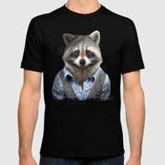 Racoon Mens Fitted Tee Black SMALL