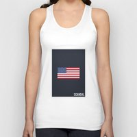 scandal Tank Tops featuring Scandal - Minimalist by Marisa Passos