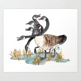 Hydra Goose Art Print