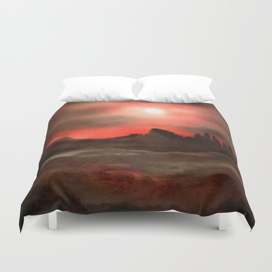 Passion in the sky Duvet Cover