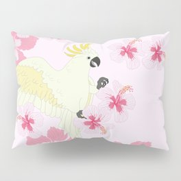 Polly's Pink Hibiscus Party Pillow Sham
