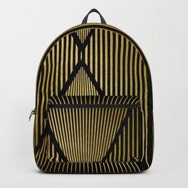 Folded Black & Gold Backpack
