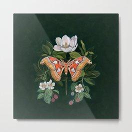 Atlas Moth Magnolia Metal Print