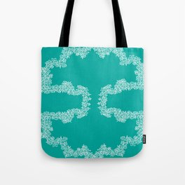 Turquoise Bunches Tote Bag
