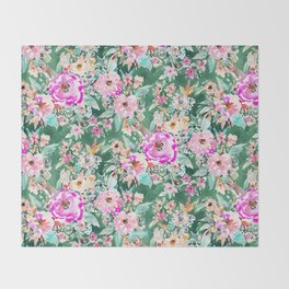 WANDERLUSH Colorful Floral Throw Blanket
