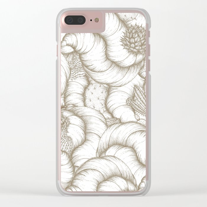 ABSTRACT CATUSES Clear iPhone Case